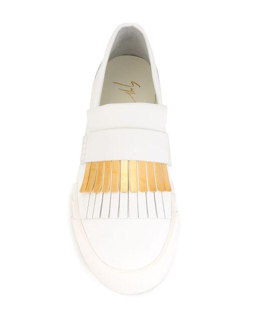 Кеды-Слипон С Бахромой Giuseppe Zanotti Design                                                                                                              белый цвет