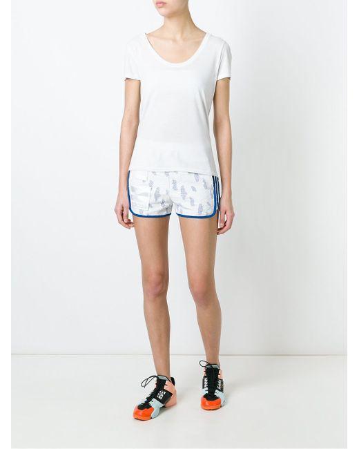 Спортивные Шорты С Кружевной Отделкой adidas Originals                                                                                                              белый цвет