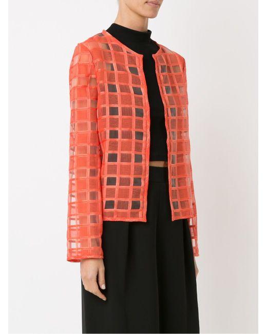 Sheer Panel Coat FERNANDA YAMAMOTO                                                                                                              красный цвет