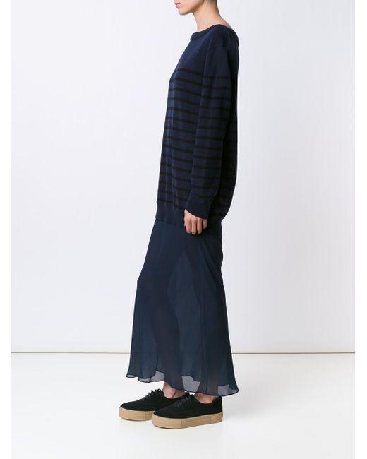 Striped Knit Layered Dress T By Alexander Wang                                                                                                              синий цвет
