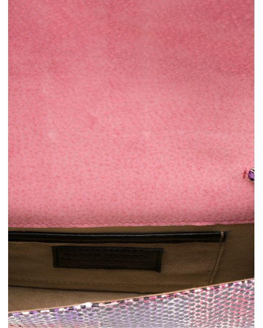 Сумка Cliky С Эффектом Змеиной Кожи Gedebe                                                                                                              розовый цвет