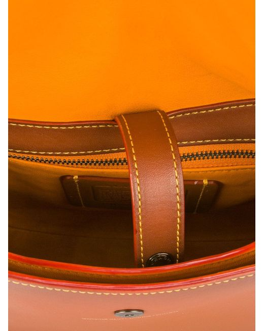 Сумка На Плечо С Цветочной Аппликацией COACH                                                                                                              коричневый цвет