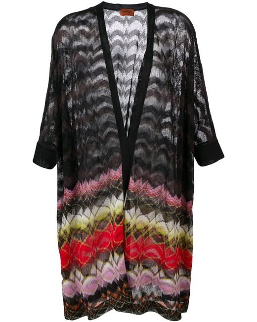 Long Wavy Pattern Cargidan Missoni                                                                                                              чёрный цвет