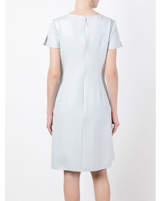 Расклешенное Короткое Платье Giorgio Armani                                                                                                              серый цвет