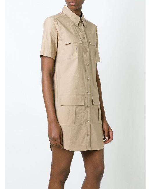 Patch Pocket Shirt Dress Equipment                                                                                                              Nude & Neutrals цвет