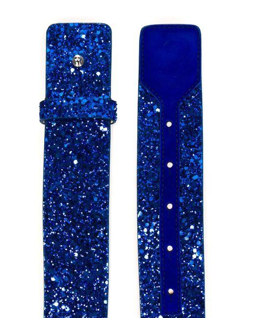Ремень В Блестками Dsquared2                                                                                                              синий цвет