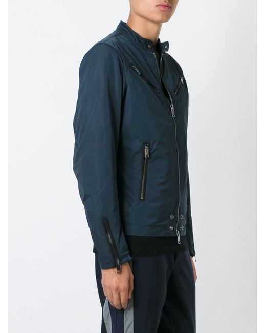 Байкерская Куртка J-Edgea Diesel                                                                                                              синий цвет
