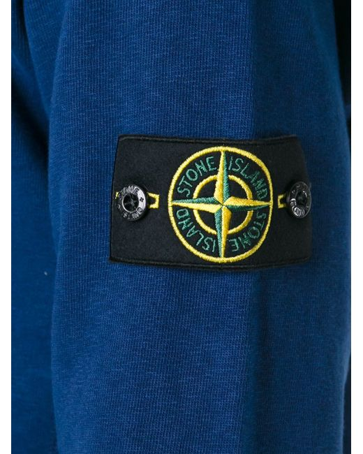 Logo Patch Sweatshirt Stone Island                                                                                                              синий цвет