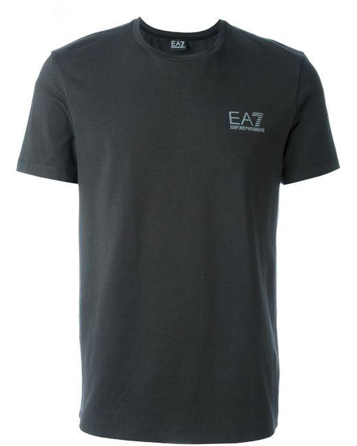 Side Logo T-Shirt EA7                                                                                                              серый цвет
