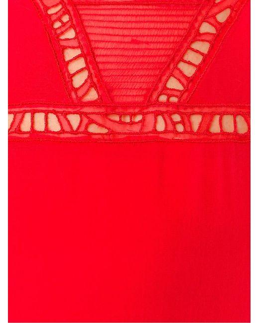 Lace Detail Beach Dress Ermanno Scervino                                                                                                              красный цвет