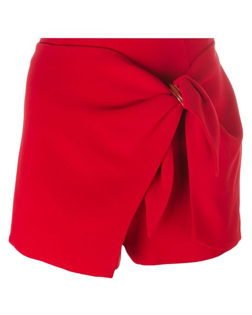 Wrapped Detail Shorts Ermanno Scervino                                                                                                              красный цвет