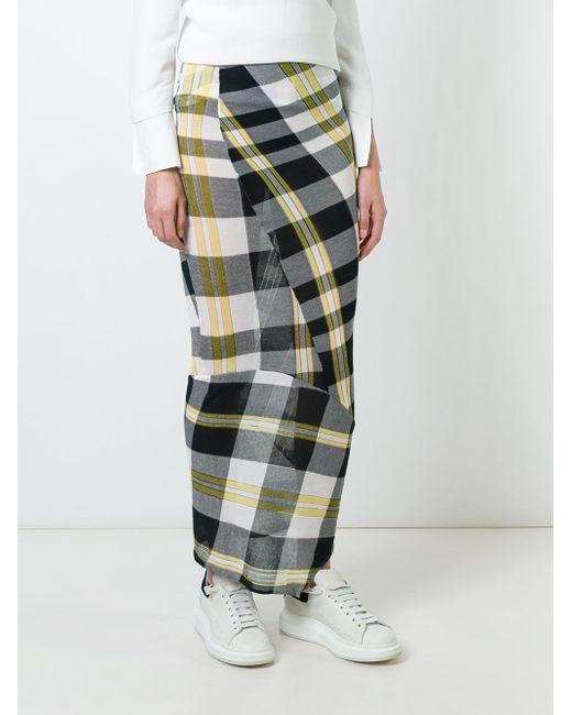 Юбка Solid Check Stella Mccartney                                                                                                              многоцветный цвет