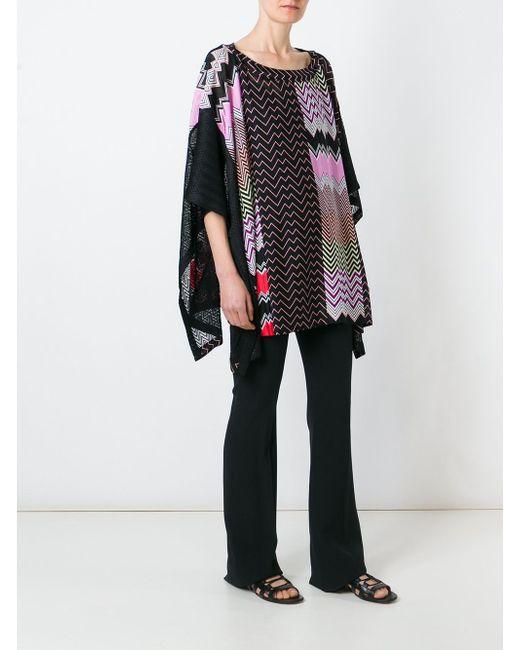 Вязаное Пончо Missoni                                                                                                              чёрный цвет