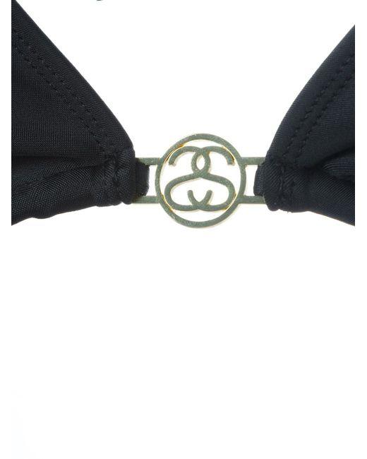 Triangle Bikini Top Stussy                                                                                                              чёрный цвет