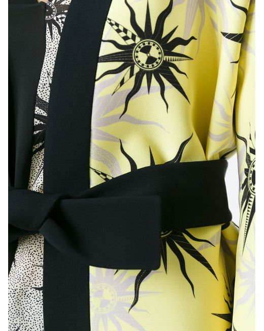Пальто С Принтом Символов Солнца Fausto Puglisi                                                                                                              чёрный цвет