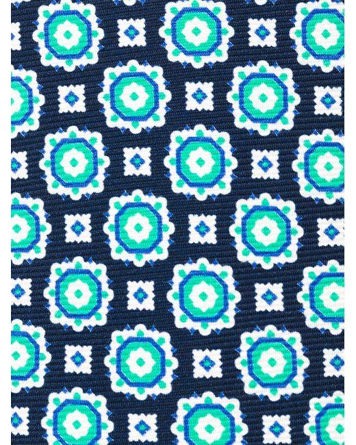 Geometric Pattern Neck Tie Kiton                                                                                                              зелёный цвет