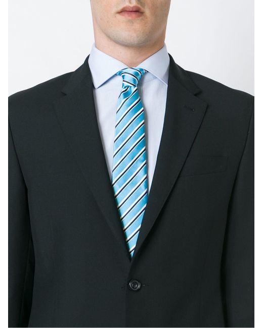 Striped Neck Tie Kiton                                                                                                              синий цвет