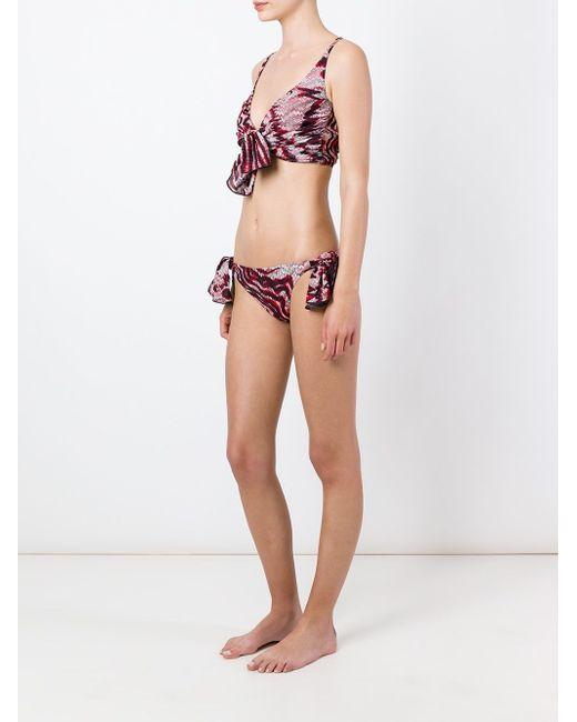 Chevron Tie Knot Bikini Missoni                                                                                                              красный цвет