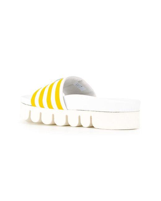 Открытые Декорированные Полосатые Сандалии Joshua Sanders                                                                                                              белый цвет