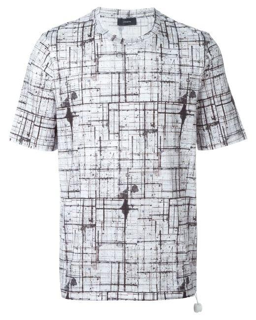 Abstract Check T-Shirt Joseph                                                                                                              белый цвет