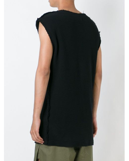 Lozenge Applications Sleeveless Sweatshirt Damir Doma                                                                                                              чёрный цвет