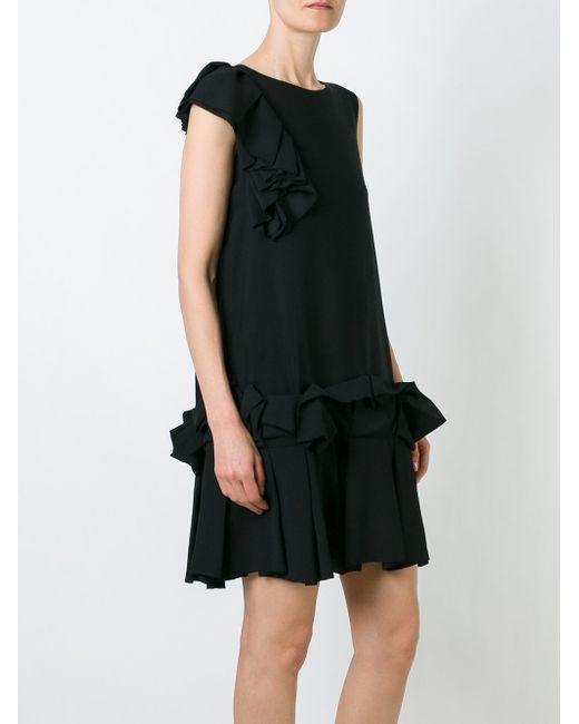 Ruffle Detail Mini Dress Gianluca Capannolo                                                                                                              чёрный цвет