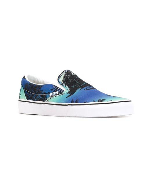 Кеды-Слипон Van Doren Vans                                                                                                              синий цвет
