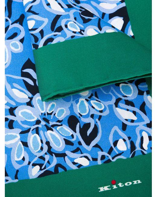Нагрудный Платок С Цветочным Принтом Kiton                                                                                                              синий цвет