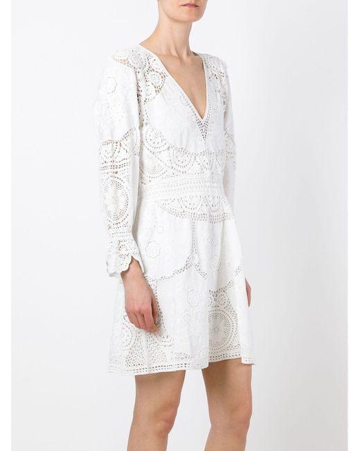 Ажурное Платье С Вышивкой Chloe                                                                                                              белый цвет