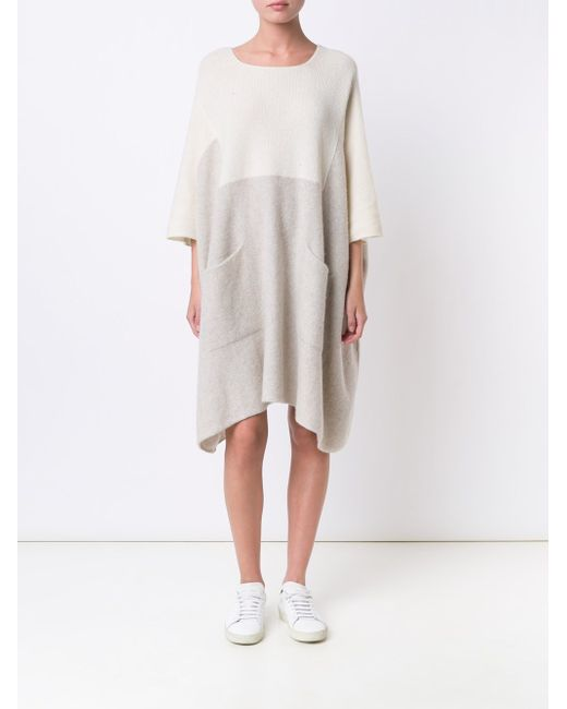 Knitted Colour Block Dress The Elder Statesman                                                                                                              Nude & Neutrals цвет
