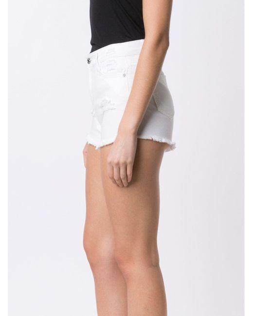Distressed Denim Shorts Obey                                                                                                              белый цвет