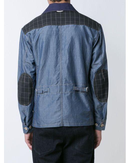 Denim Shirt Jacket JUNYA WATANABE COMME DES GARCONS                                                                                                              синий цвет