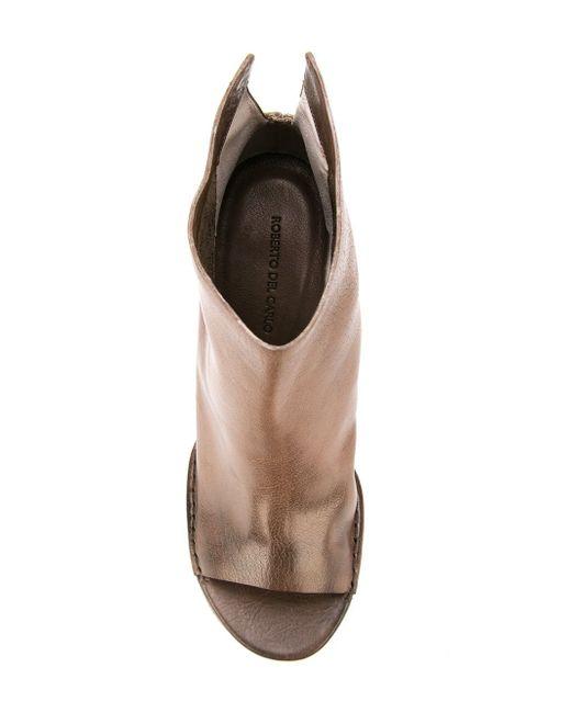 Ботильоны С Открытым Носком Roberto Del Carlo                                                                                                              коричневый цвет
