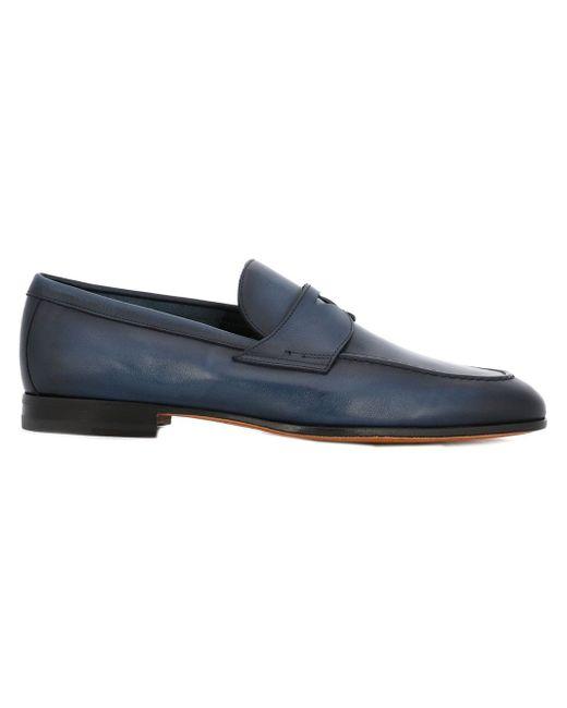 Classic Loafers Santoni                                                                                                              синий цвет