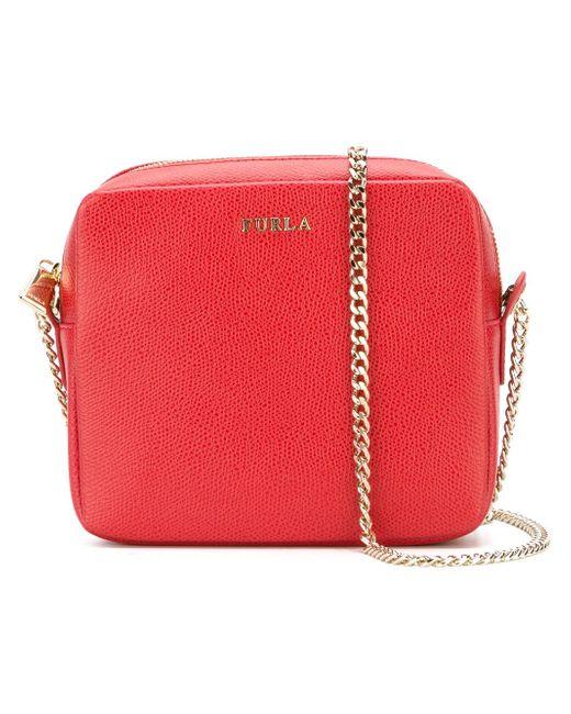Square Cross Body Bag Furla                                                                                                              красный цвет