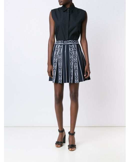 Pleated Jacquard Skirt Peter Pilotto                                                                                                              синий цвет