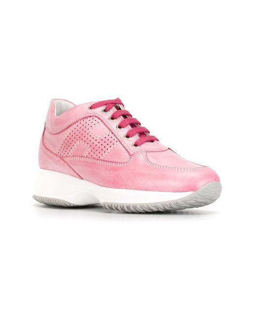 Кроссовки С Панельным Дизайном Hogan                                                                                                              розовый цвет