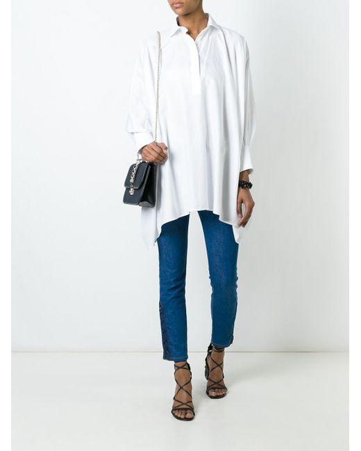 Oversized Shirt Valentino                                                                                                              белый цвет