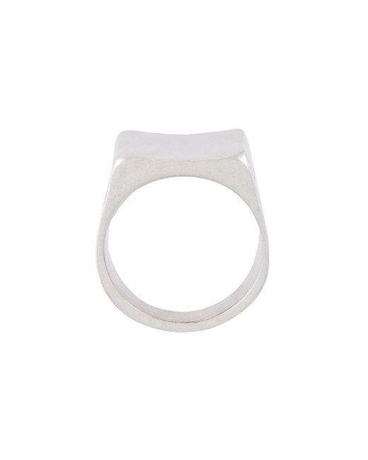 Square Ring Maison Margiela                                                                                                              серебристый цвет