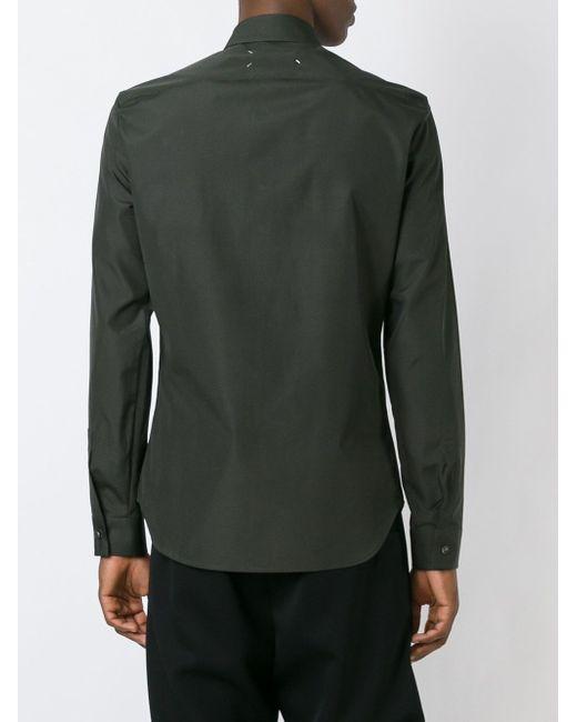 Классическая Рубашка Maison Margiela                                                                                                              зелёный цвет