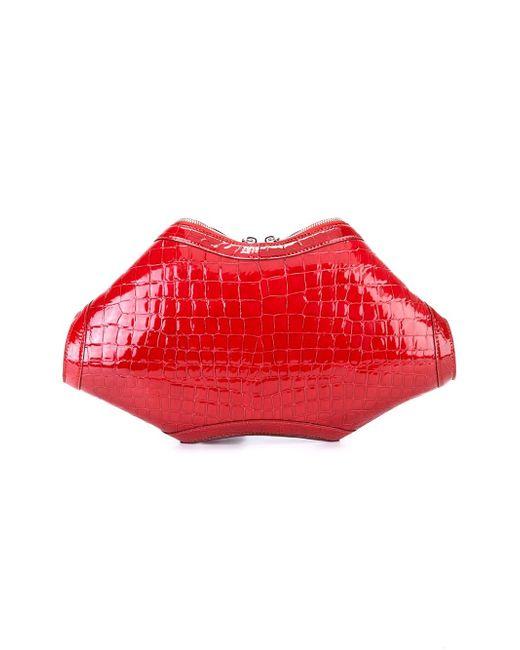 De Manta Clutch Alexander McQueen                                                                                                              красный цвет