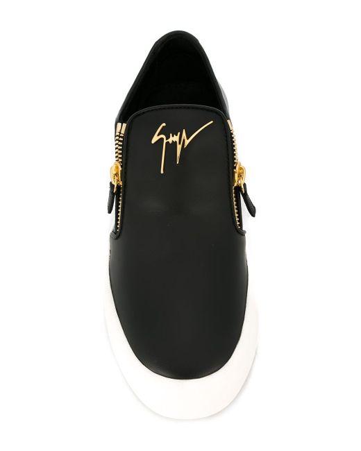 Adam Slip-On Sneakers Giuseppe Zanotti Design                                                                                                              чёрный цвет