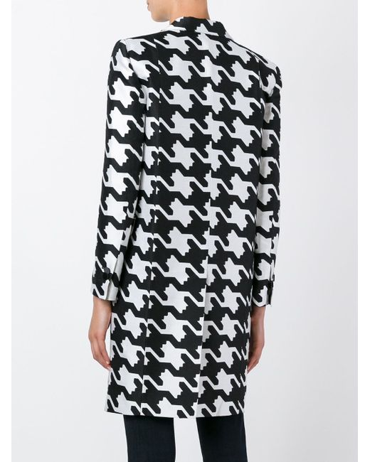 Пальто В Ломаную Клетку Dsquared2                                                                                                              чёрный цвет