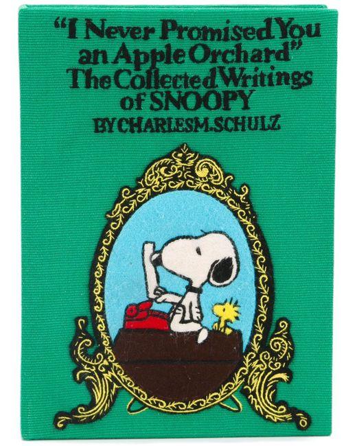 Клатч-Книга Apple Orchard Olympia Le-Tan                                                                                                              зелёный цвет