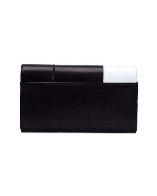 Glove Handle Colour Block Clutch PERRIN PARIS                                                                                                              коричневый цвет