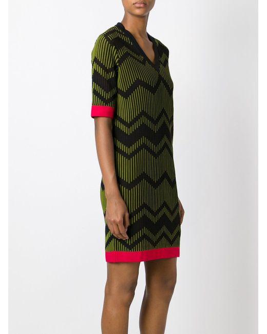 Платье Зигзагообразной Вязки Missoni                                                                                                              чёрный цвет