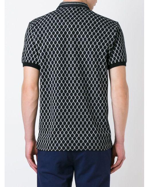 Рубашка Поло С Геометрическим Рисунком Kenzo                                                                                                              чёрный цвет