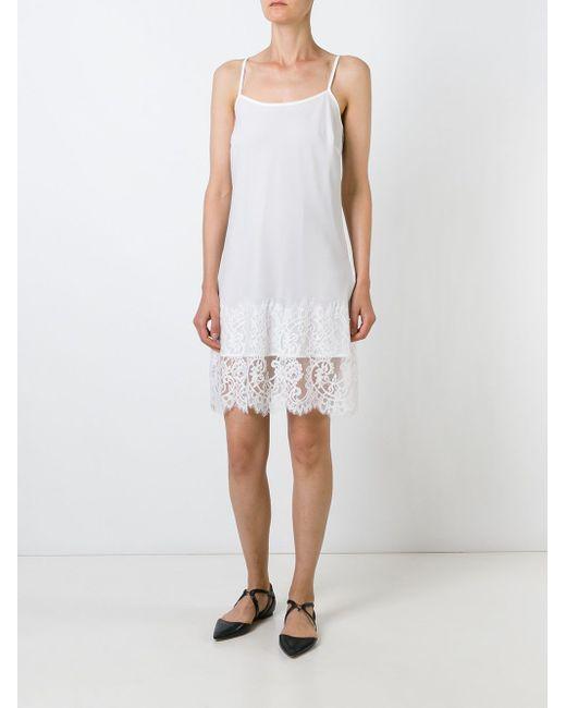 Платье На Бретелях С Кружевной Отделкой Twin-set                                                                                                              белый цвет