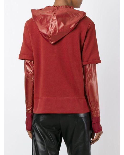 Многослойная Толстовка MM6 by Maison Margiela                                                                                                              красный цвет