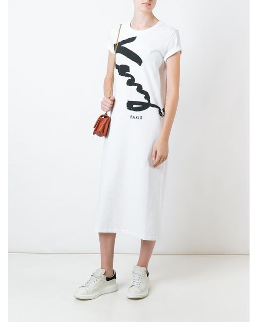 Платье Signature Kenzo                                                                                                              белый цвет